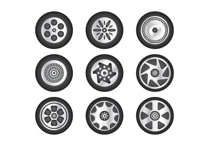 Gratis Hubcap Vector Collectie