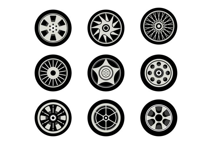Free Hubcap Vector Collection
