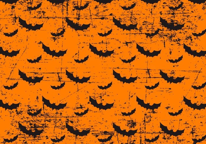 Grunge Halloween Bats Background