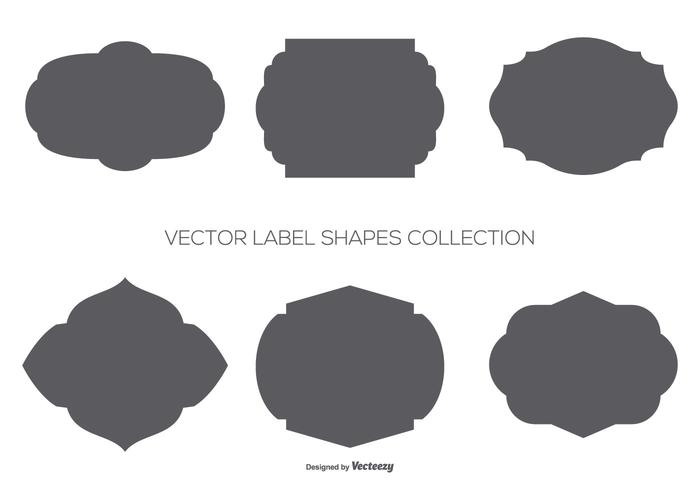 Vector Label Shapes Collection  Download Free Vector Art Stock