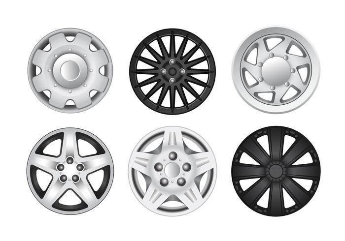 Silver Wheel Hubcap Vektoren