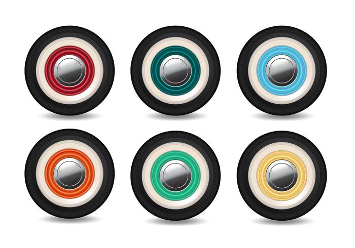 Vector Wheel With Different Colors