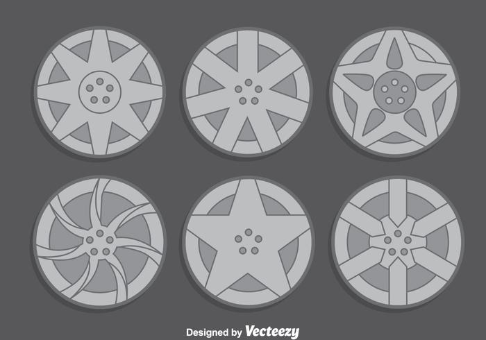 Hubcap Collection Vector