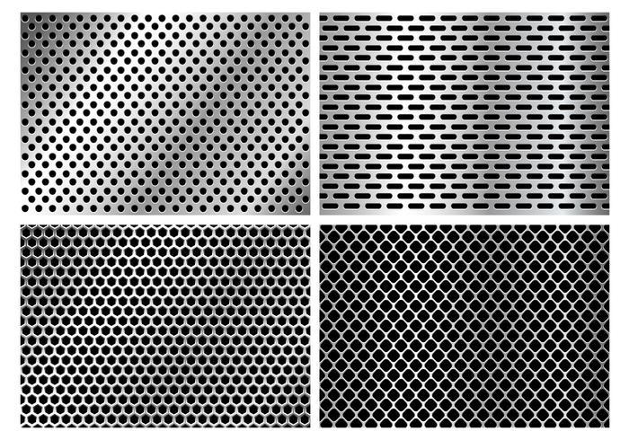 Metallisk högtalare Grillstruktur