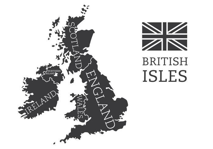 British Isles and Ireland Map vector