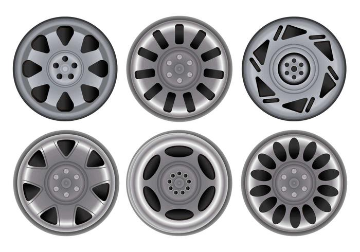 Hubcap vector set