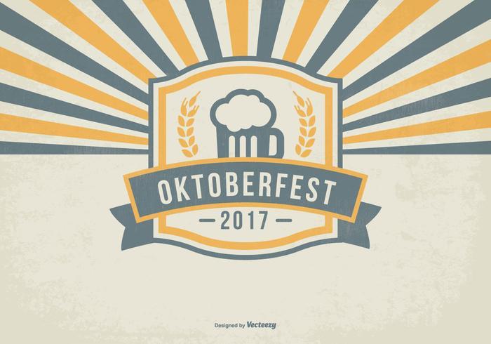 Retro Oktober Fest Illustratie