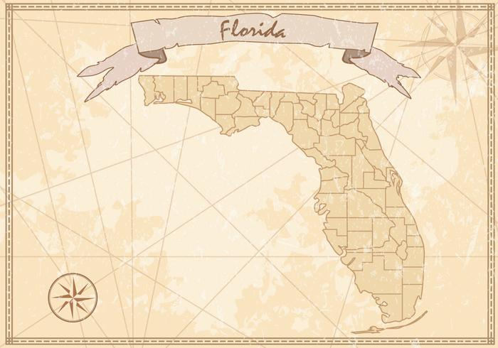 Vintage Florida Map   Download Free Vector Art, Stock Graphics