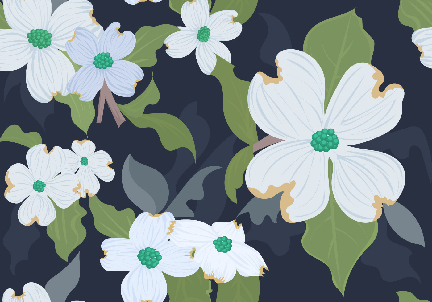 White dogwood floral seamless pattern download free vector art white dogwood floral seamless pattern download free vector art stock graphics images izmirmasajfo