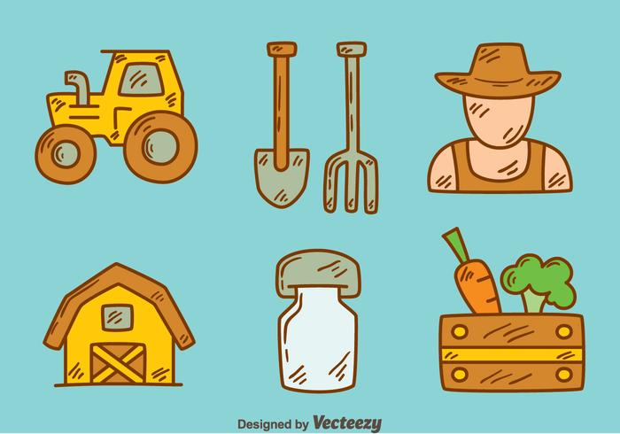 Hand Drawn Peasant Element Vector