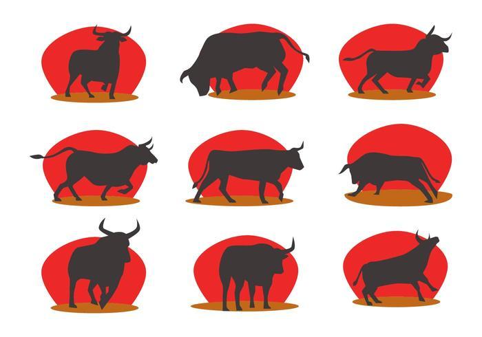 Libre Siluetas Bull Fighter Vector