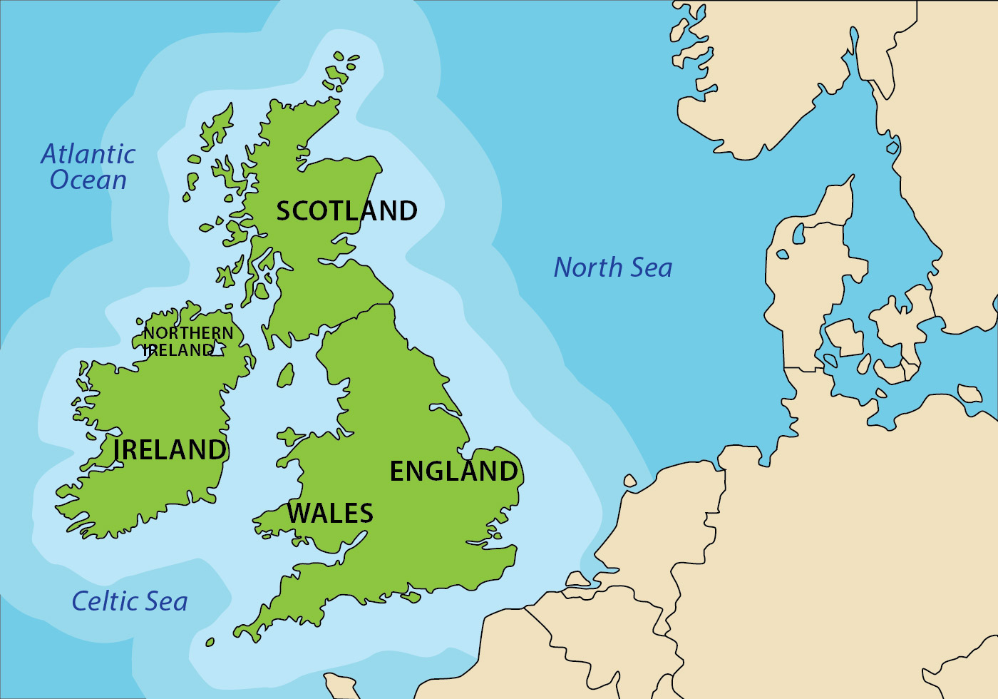 The British Isles Map British Isles Map   Download Free Vector Art, Stock Graphics & Images The British Isles Map