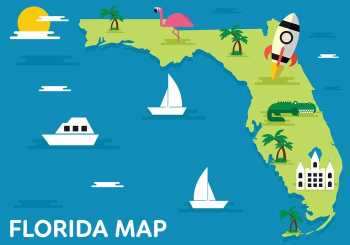 Florida-Karte Vektor-Illustration vektor