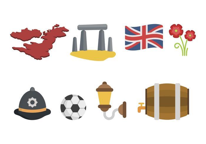 Flat United Kingdom Vectors
