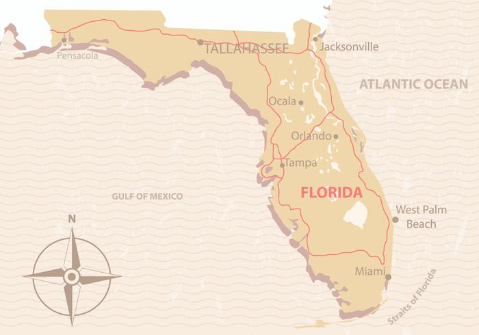 Vintage Florida Map.Vintage Florida Map Download Free Vector Art Stock Graphics Images