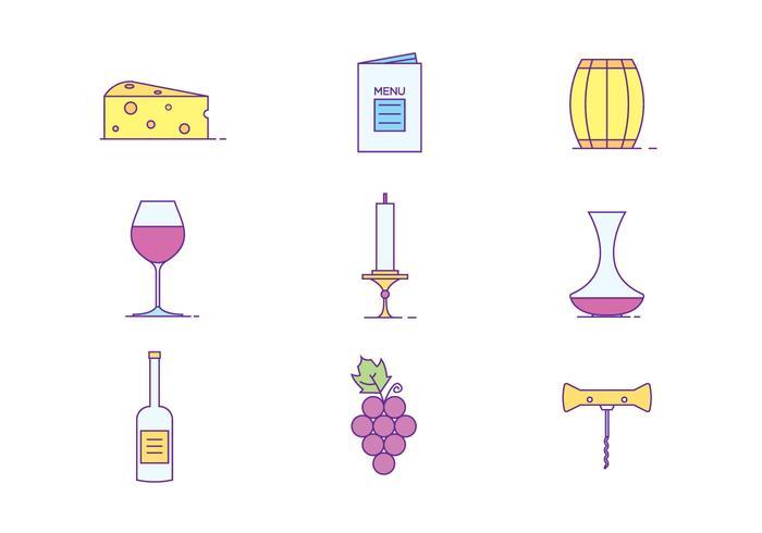 Icone del vino vettore