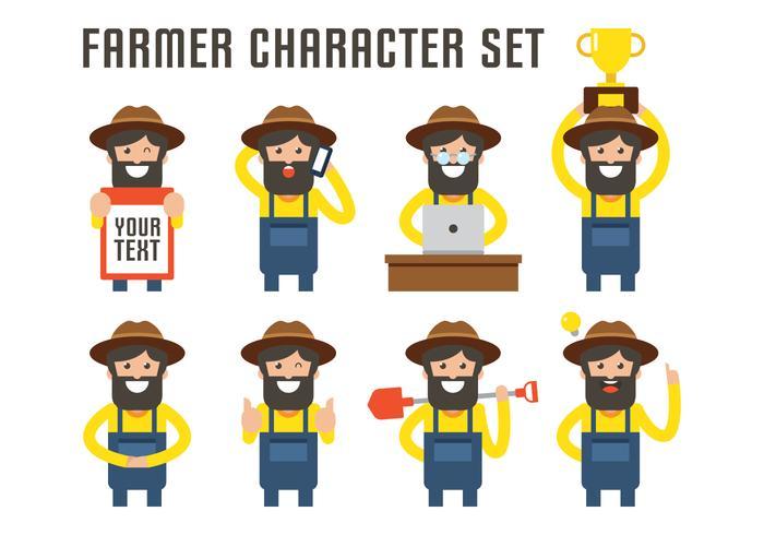 Ensemble de caractères de l'agriculteur