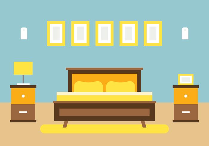 Design de interiores da casa do quarto vetor