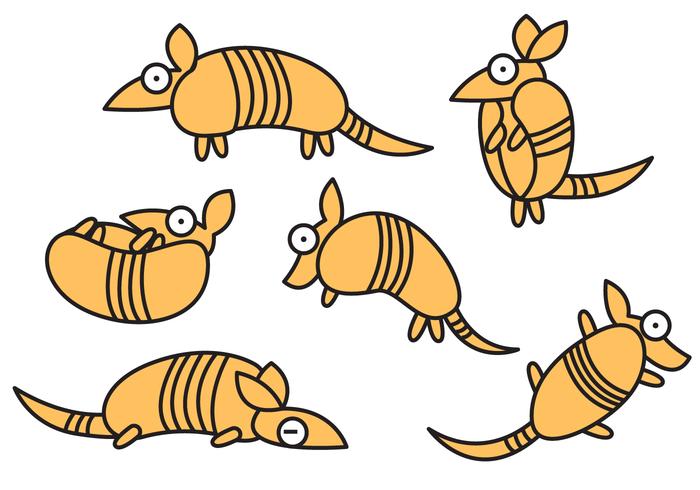 Cheerful Armadillo Cartoon Vector