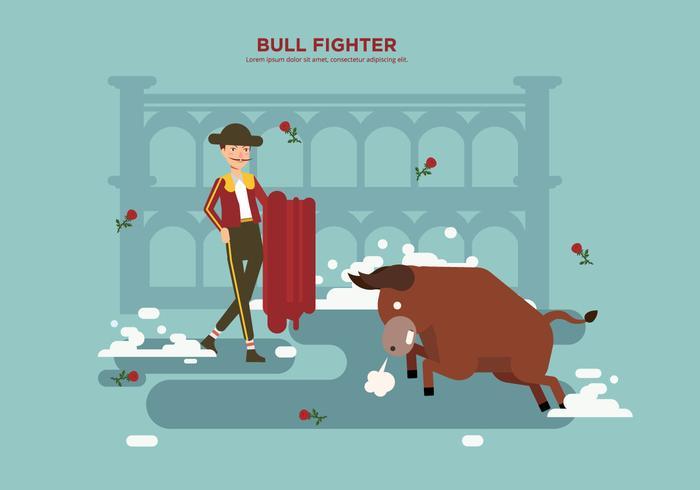 Free Bull Fighter Vector
