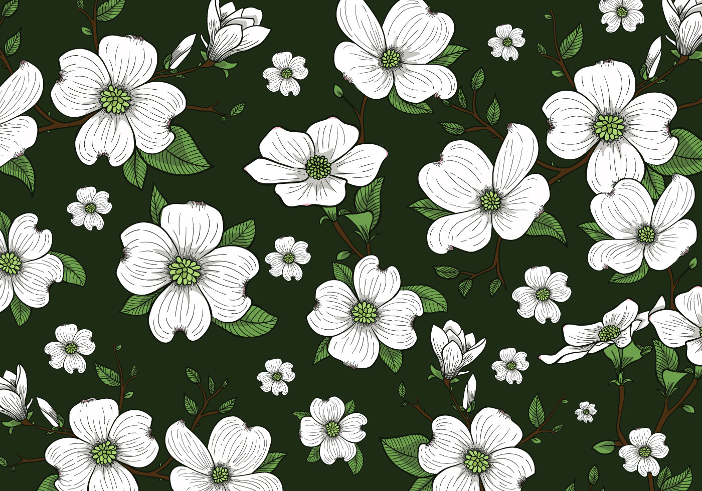 Flower Pattern Wallpaper New Decorating