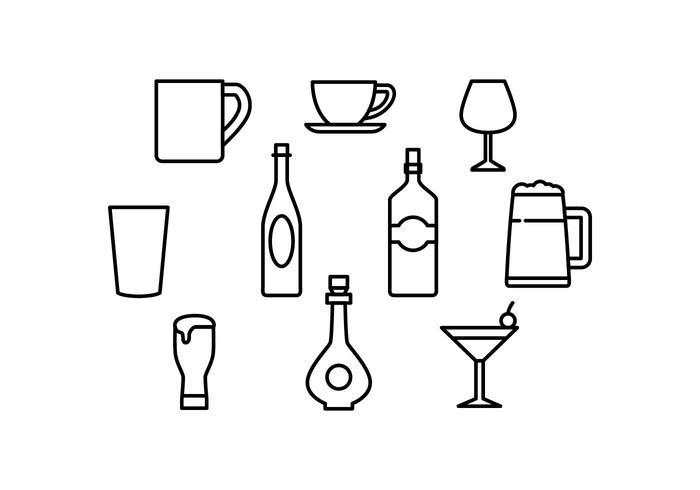 Free Beverage Line Icon Vector