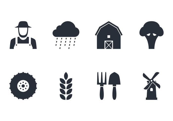 Set di icone di fattoria