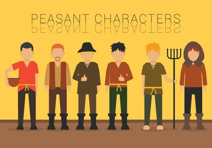 Peasant vector set