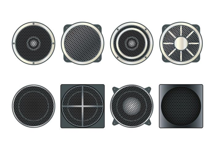 Speaker Grill Vector Icons Set