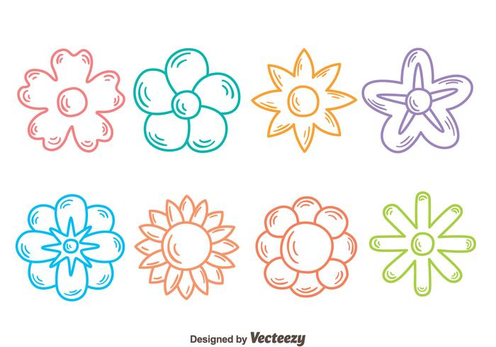 Sketch Flowers Collection Vector