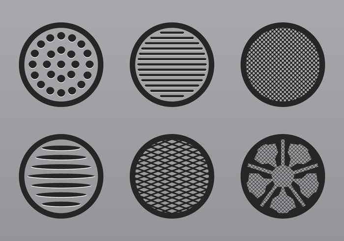 Speaker Grill Icon Vector
