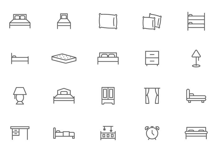 Free Bed and Nighttime Vectors