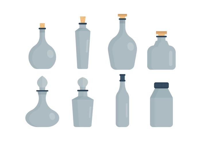 Set of Decanter Vector Collection