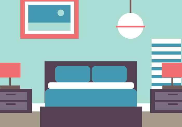 Camera da letto stile piano