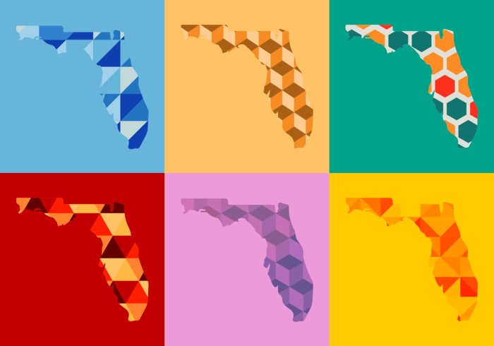 Florida Map Vector Illustration