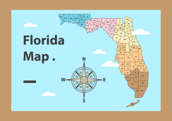 Free Florida Map Vector