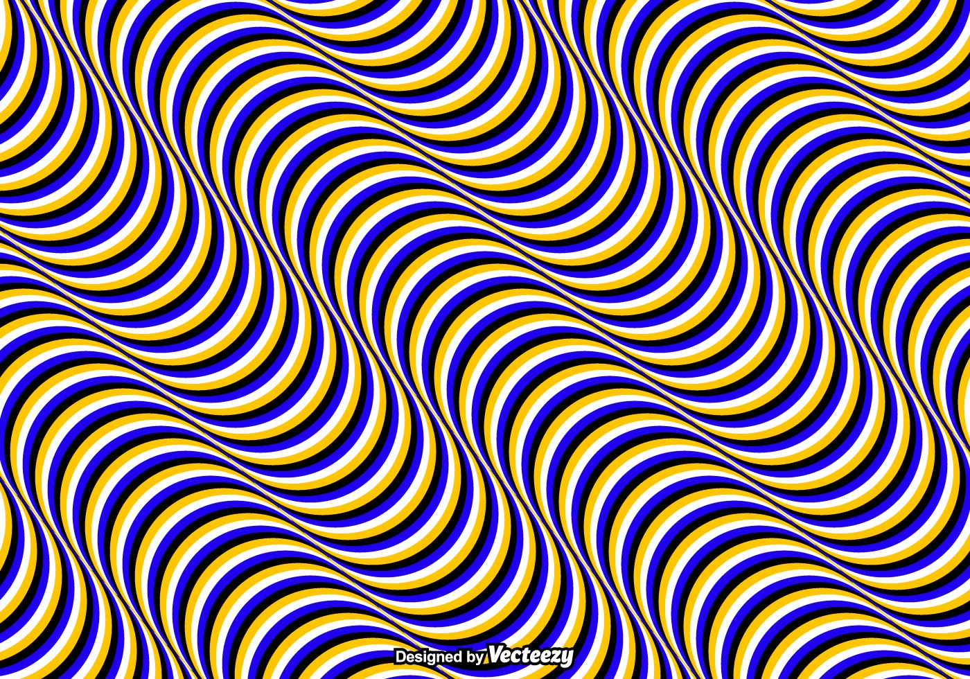 Vector Drawing Lines Java : Vector seamless pattern with optical illusion wavy colored