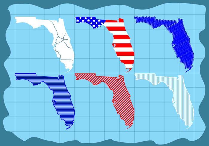 Free Schöne Florida Map Vector