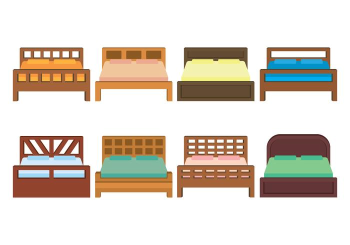 Bedding Vector Icons Set