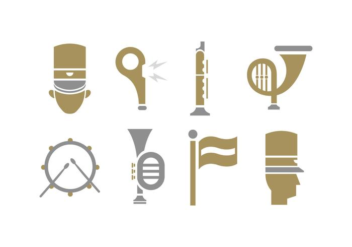 Marching band tools icon vector