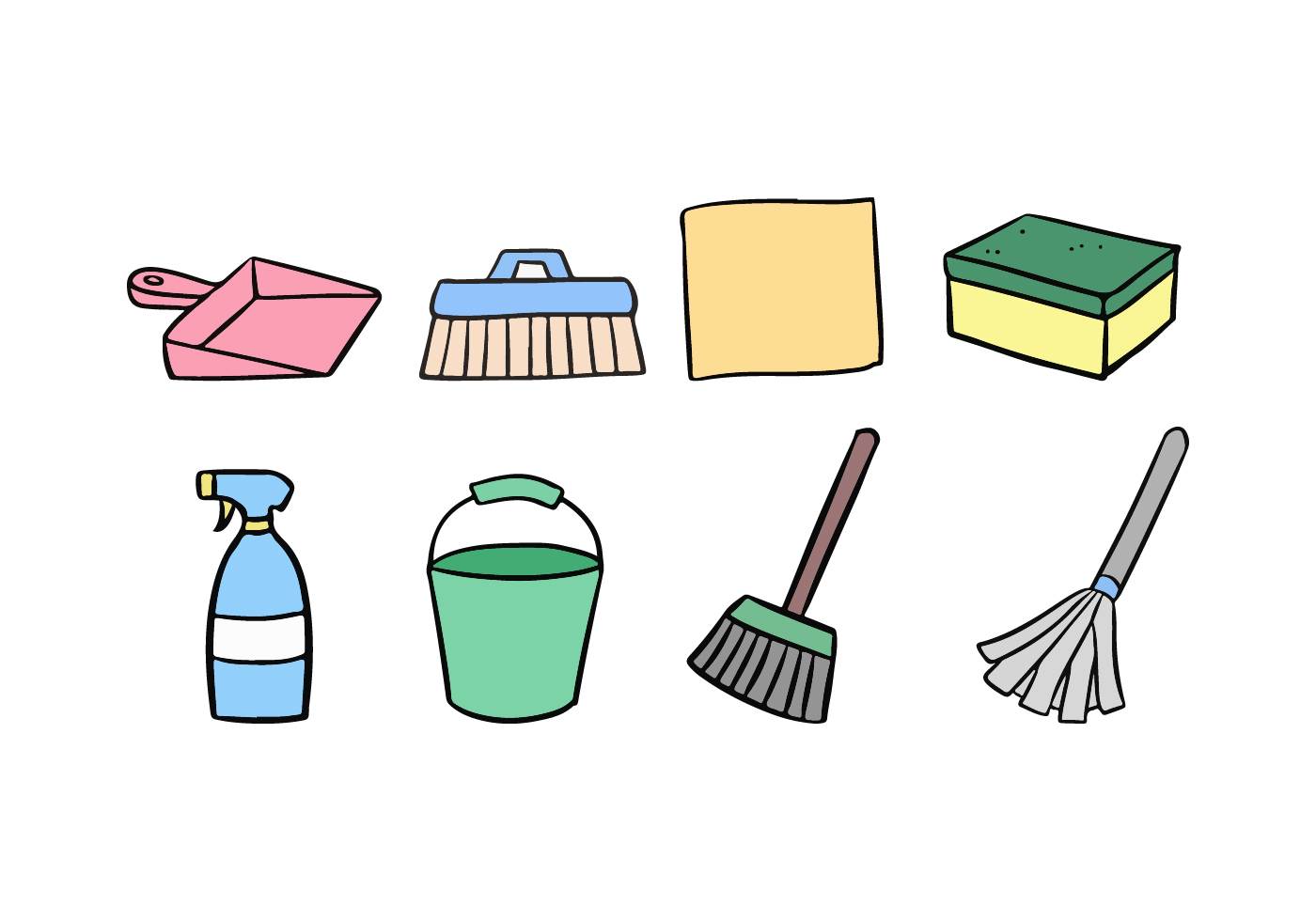 Cleaning Icon Set Download Free Vector Art Stock