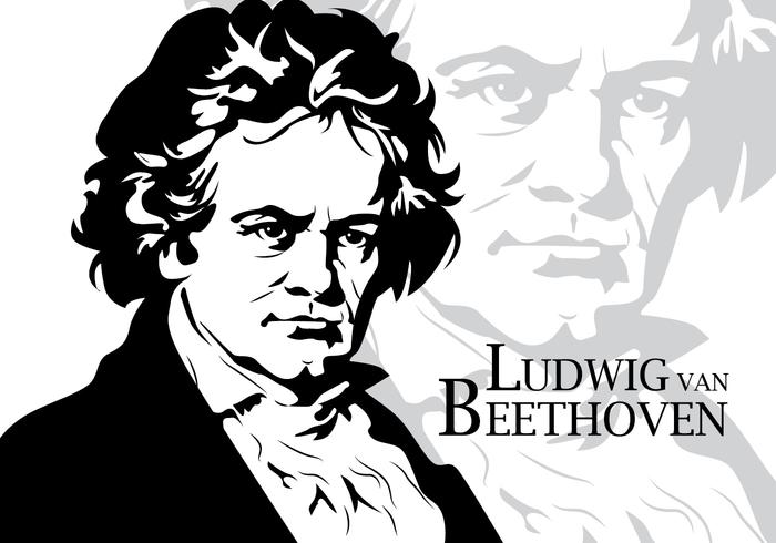 Beethoven Vector Portrait