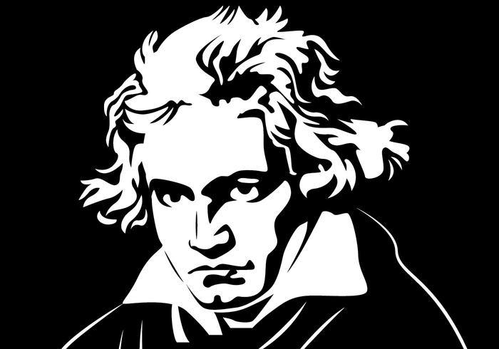 Beethoven Portret Vector
