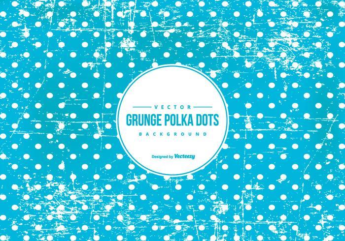 Blue Grunge Polka Dot Background