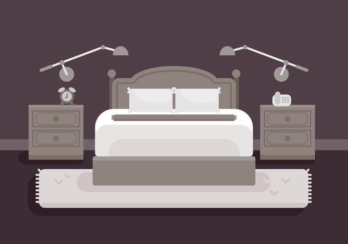 Illustrazione di biancheria da letto vettore