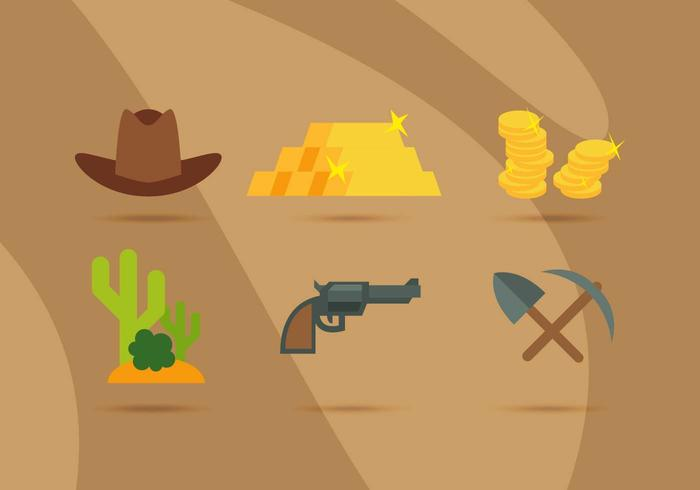 Gold Rush Objects Vector