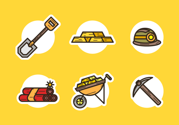 Gold Rush Icons Gratis Vector Pack