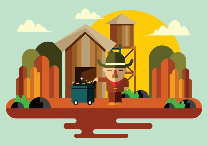 Vecteur de prospecteur minier d'or