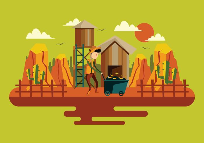 Gold Miner Illustration