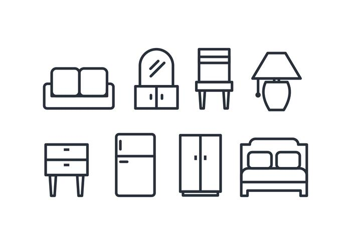 Furniture Icon Pack Download Free Vector Art Stock